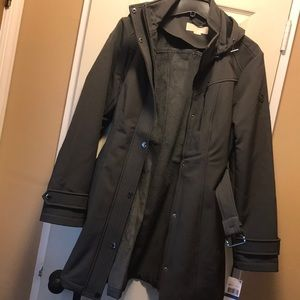 NWT Belted and lined grey Michael Kors coat